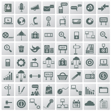 Social media   internet concept,icons,vector  Stock Vector - 18824116