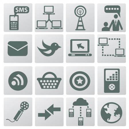 Web   internet icons,vector Stock Vector - 18824153