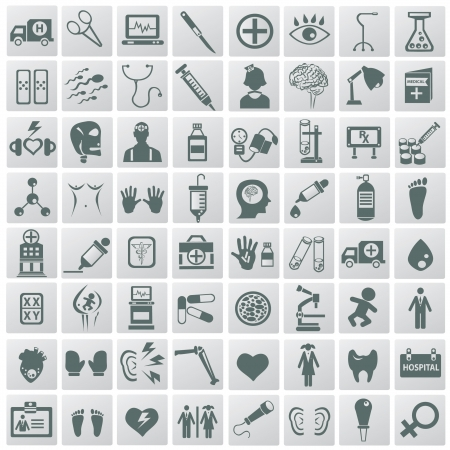 Medical icon set,Vector  Illustration