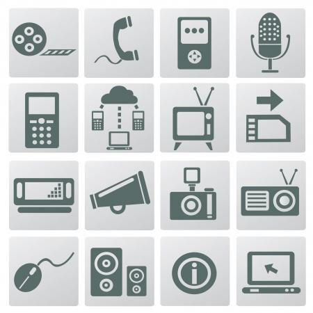 nota: Web social icons,vector