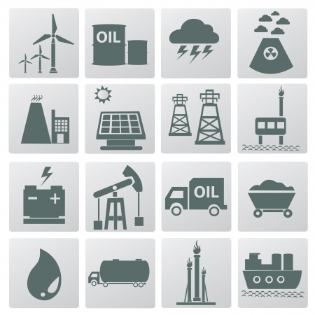 Energy icons,vector  Stock Vector - 18824152