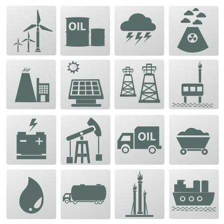 iconos energ�a: Iconos, vector de energ�a