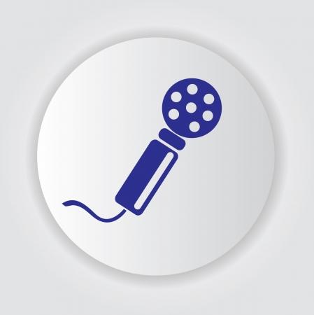 airwaves: Microphone symbol,Vector