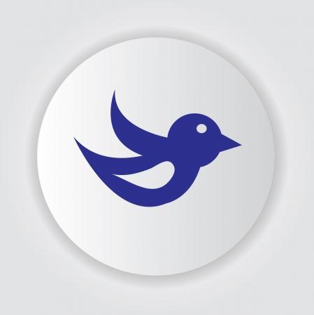 lowbrow: Bird symbol,vector