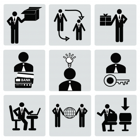 Business,Human resource,icon set,Vector  Stock Vector - 18750793