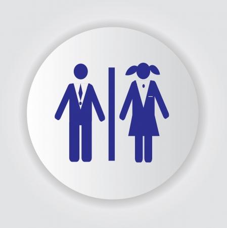 Toilet symbol,Vector Stock Vector - 18750921