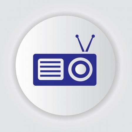 radio mast: Radio symbol,Vector