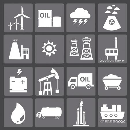 нефтяной: Энергия иконки, векторные Иллюстрация