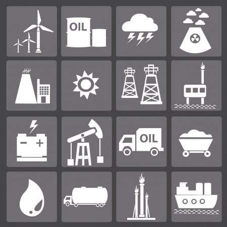 oil barrel: Energy icons,vector