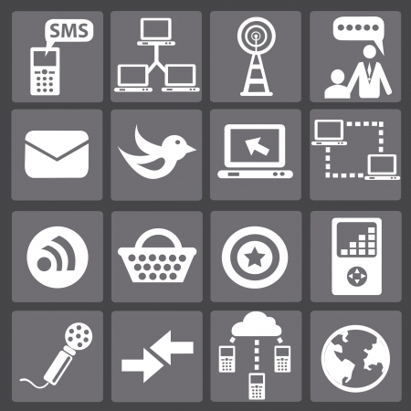 signal strenght: Web   internet icons,vector  Illustration