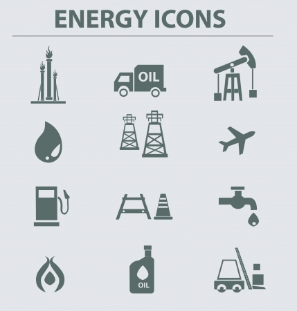 energy grid: Iconos de gas�leo, vector