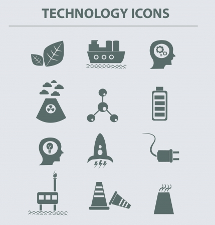 Energy icons,vector Stock Vector - 18750811