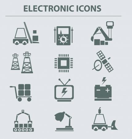 sattelite: Electronic icons,vector  Illustration