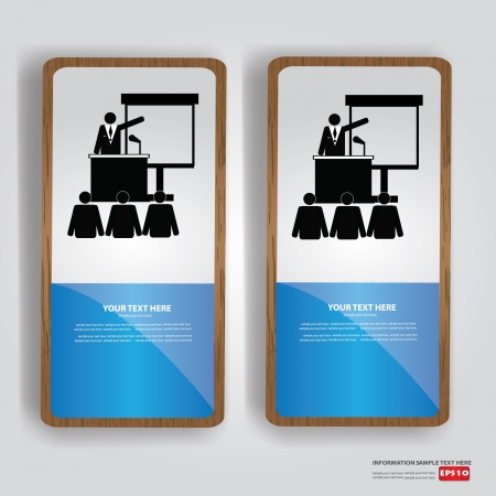 Business human, banner,Vector  Vector