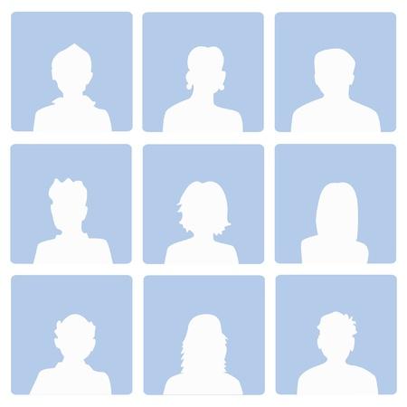 visage femme profil: Les utilisateurs de d�faut, Vecteur