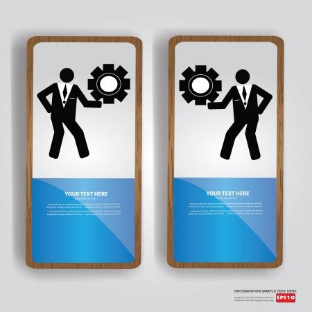 er: Business human,engineer,bann er,Vector