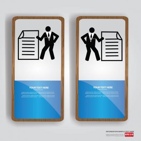 Document,business banner,Vector  Stock Vector - 18750991