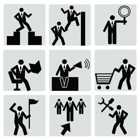 Business   human resource,management icon set,Vector  Vector