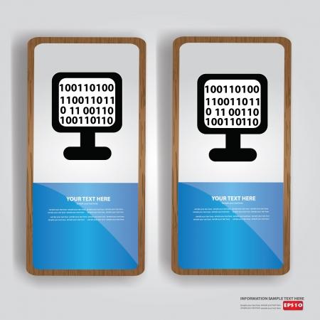 code computer: Binary code,computer banner,Vector