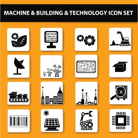 builder symbol: Electr�nica, Technol g�a icon set, vector Vectores