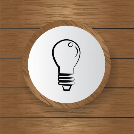 Light bulb symbol,Vector  Stock Vector - 18751045