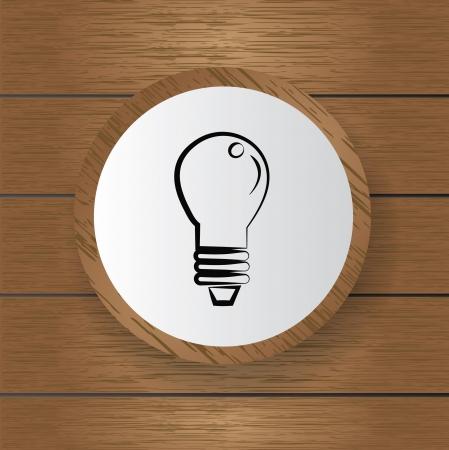 Light bulb symbol,Vector Stock Vector - 18751045