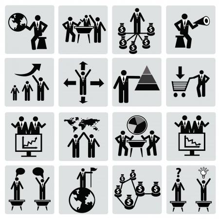 Gestion et humaines Icon set ressources, Vecteur Vecteurs