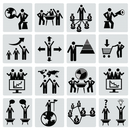 support group: Management and Human Resource Icon set,Vector  Illustration