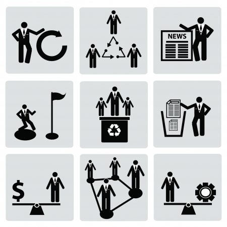 Business management and Human resource,organizati on,icon set,Vector  Stock Vector - 18750807