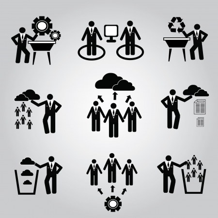 Business management and Human resource,organizati on,icon set,Vector  Vector