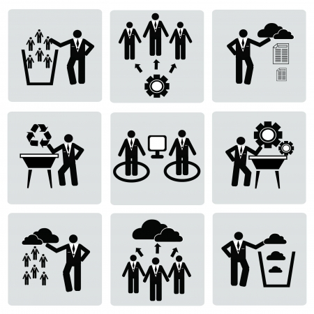Business management and Human resource,organizati on,icon set,Vector
