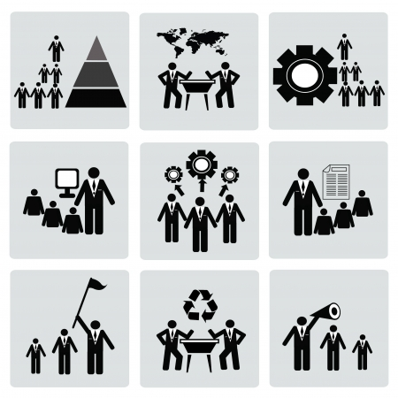 Management and Human Resource Icon set,Vector Stock Vector - 18750875