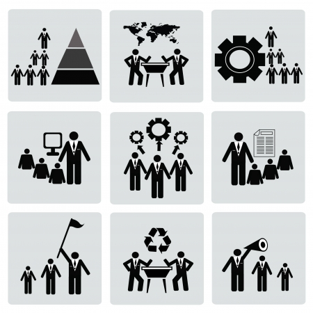 Management and Human Resource Icon set,Vector Vector