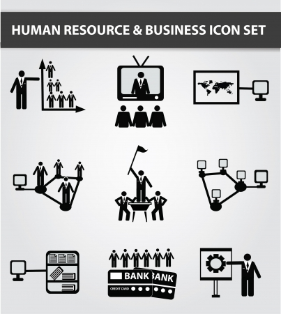 Communicate,Busines s,Human resource,icon set,Vector  Stock Vector - 18750888