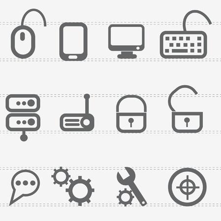 computer icon set: Computer icon set,vector