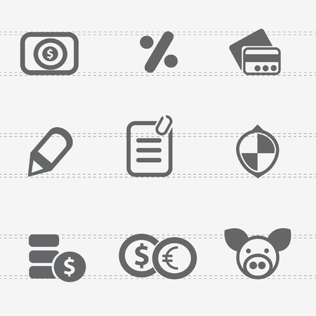 e auction: Finance icon set,vector