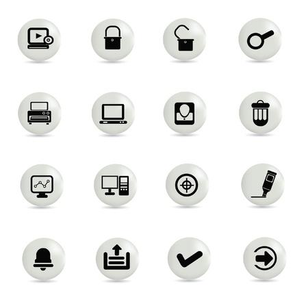 Web,technology icon set,vector Stock Vector - 18823683