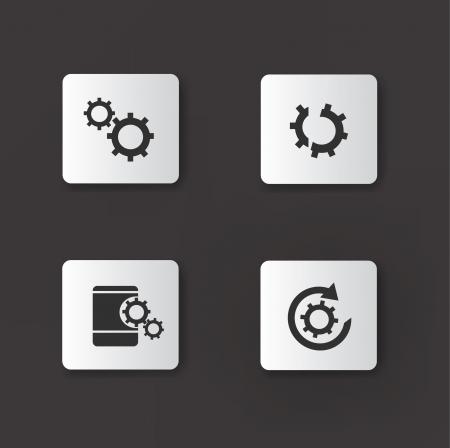 Gears icons,vector Stock Vector - 18823759
