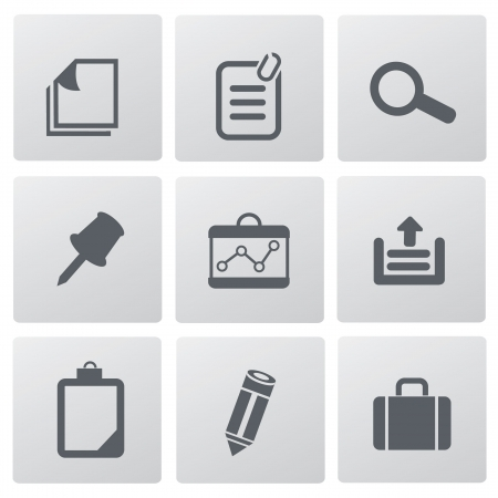 Office icons,vector  Stock Vector - 18823685