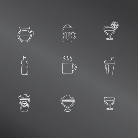 Drink icons,vec tor  Vector