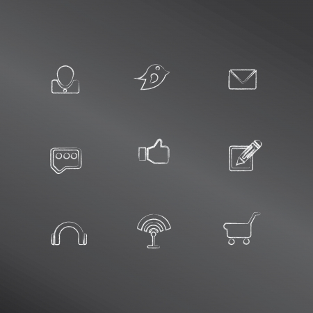Social icons,vector  Stock Vector - 18823644
