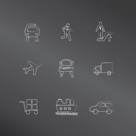 Transport icons,vector  Vector