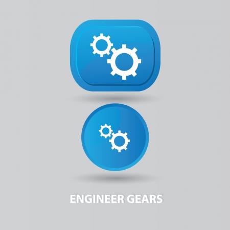 gearshift: Gear sign,vector