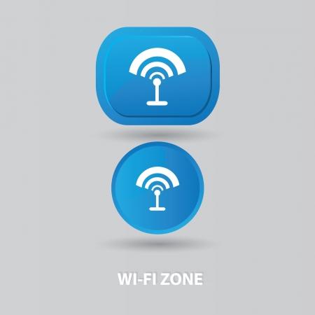 wireless zone sign Vector