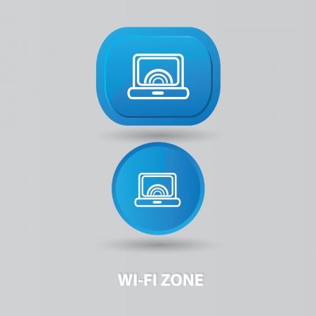 telephone mast: Wi-fi zone sign,vector  Illustration