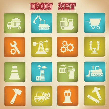 Industry icons Stock Vector - 18780824