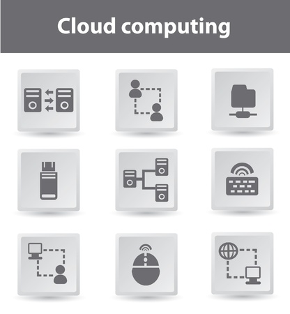 Cloud computing Stock Vector - 18780550