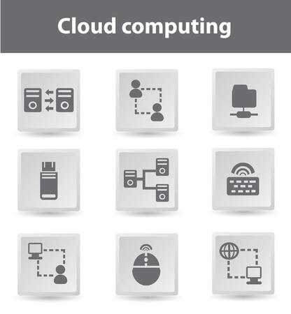 Cloud computing Stock Vector - 18780550