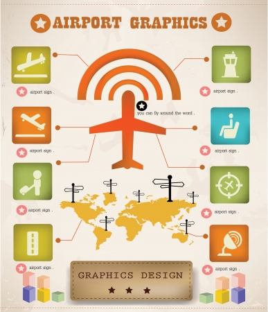 Airport info graphics,graphics design  Vector