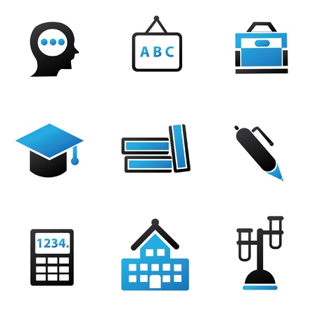 Education sign,icon set Stock Vector - 18780564